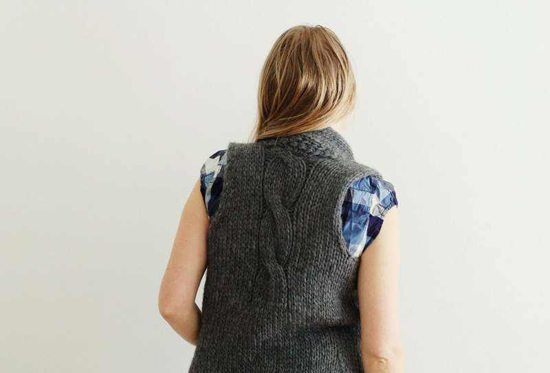 Crisp And Gray Vest Rain Knitwear Designs Knitting Patterns