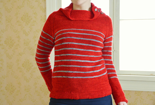 gathering stripes adult version pattern