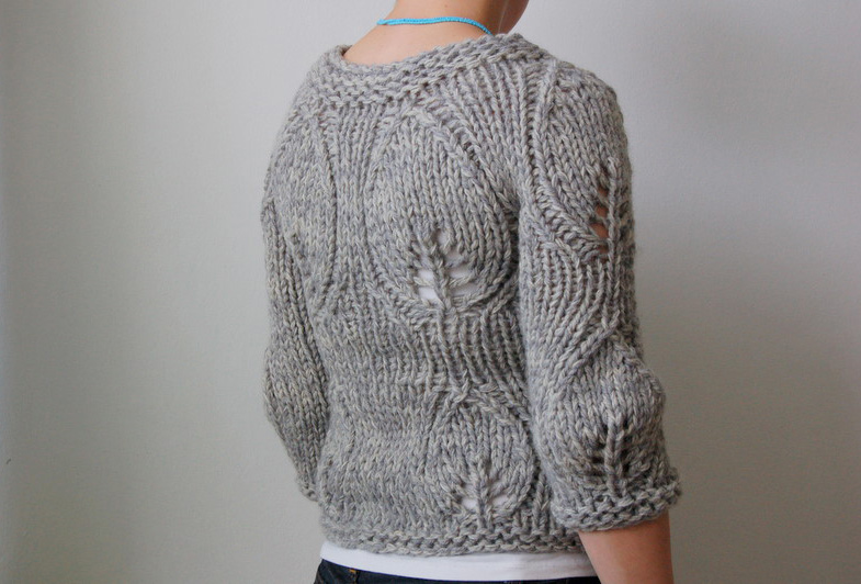 Knitting Jumper Pattern : Modern garden rain knitwear designs knitting patterns