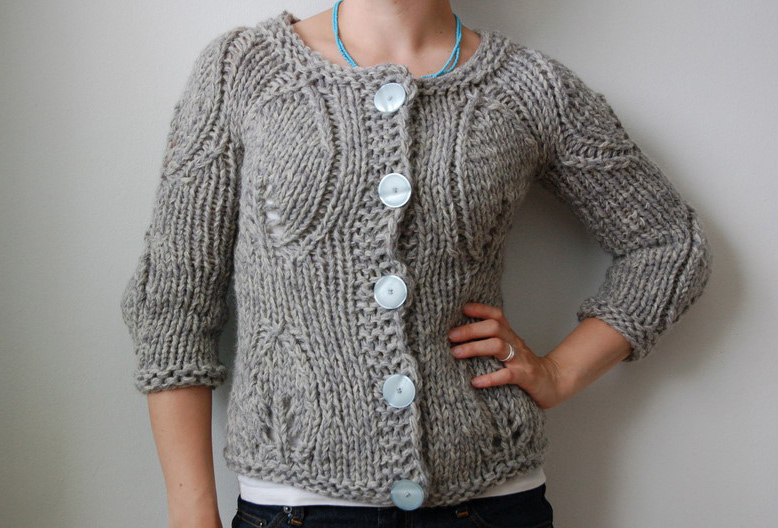 Modern Cardigan Knitting Patterns : modern garden - rain knitwear designs - knitting patterns
